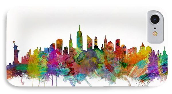 New York City Skyline IPhone 7 Case by Michael Tompsett