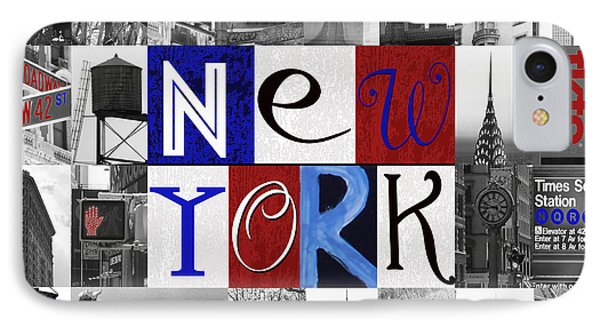 New York Collage II IPhone Case by Marilu Windvand