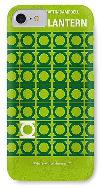 No120 My Green Lantern Minimal Movie Poster IPhone Case by Chungkong Art