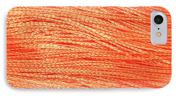 Orange String IPhone Case by Tom Gowanlock
