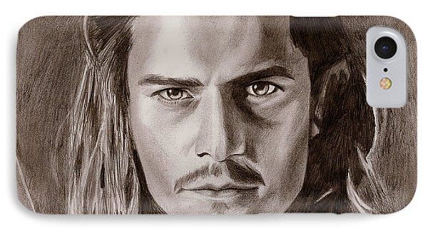Orlando Bloom IPhone Case by Michael Mestas