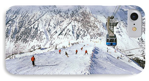 Overhead Cable Car In A Ski Resort IPhone Case by Panoramic Images