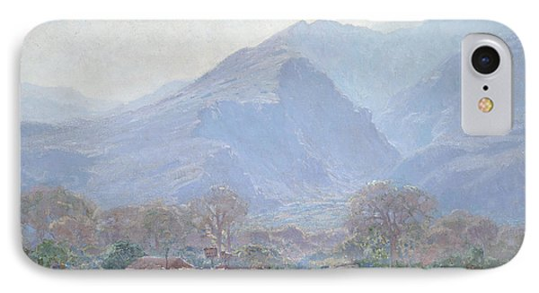Palm Springs Landscape With Shack Phone Case by John Frost