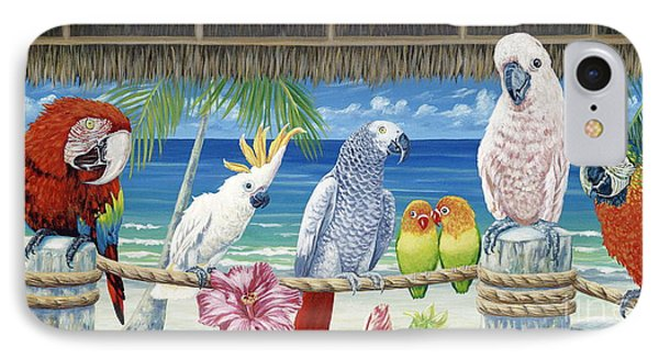 Parrots In Paradise IPhone Case by Danielle  Perry