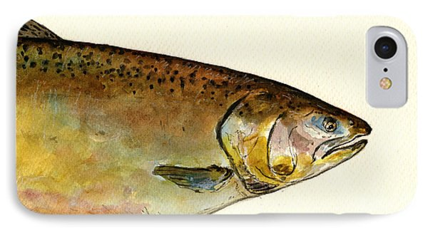 1 Part Chinook King Salmon IPhone 7 Case by Juan  Bosco