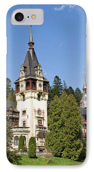 Peles Castle, Sinaia, Carpathian IPhone 7 Case by Martin Zwick