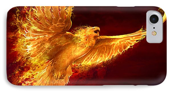 Phoenix Rising IPhone 7 Case by Tom Wood