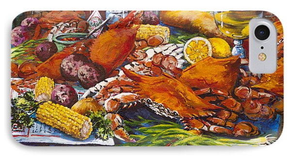 Pontchartrain Crabs IPhone Case by Dianne Parks