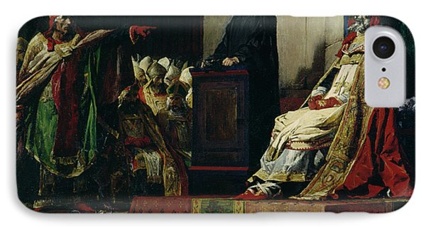 Pope Formosus And Pope Stephen Vi IPhone Case by Jean Paul Laurens