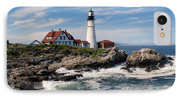 Portland Head Lighthouse IPhone Case by Georgia Fowler