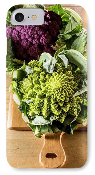 Purple And Romanesque Cauliflowers IPhone 7 Case by Aberration Films Ltd