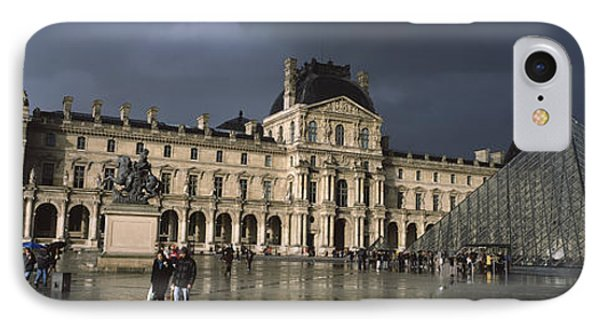 Pyramid In Front Of A Museum, Louvre IPhone Case by Panoramic Images
