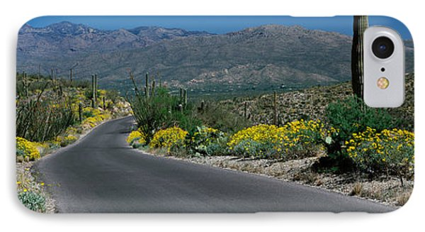 Road Passing Through A Landscape IPhone Case by Panoramic Images