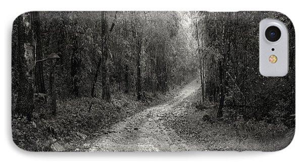 Road Way In Deep Forest IPhone Case by Setsiri Silapasuwanchai