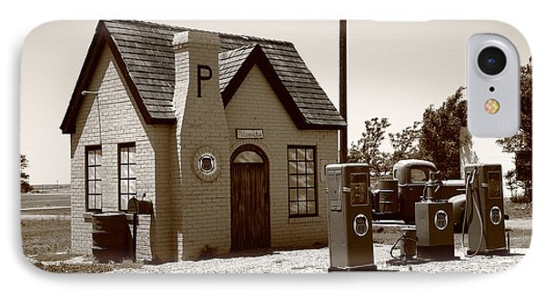 Route 66 - Phillips 66 Gas Station Phone Case by Frank Romeo