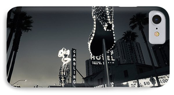 Ruby Slipper Neon Sign Lit Up At Dusk IPhone Case by Panoramic Images