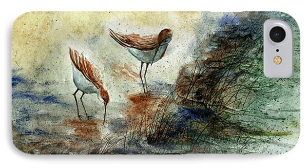 Sand Pipers IPhone Case by Steven Schultz