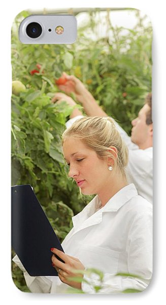 Scientists Examining Tomatoes IPhone 7 Case by Gombert, Sigrid