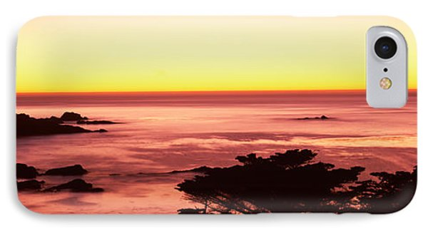 Sea At Sunset, Point Lobos State IPhone Case by Panoramic Images