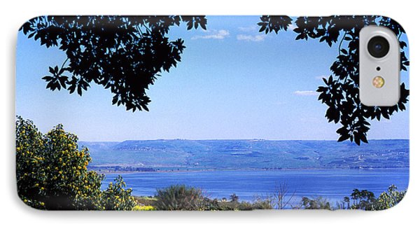 Sea Of Galilee From Mount Of The Beatitudes Phone Case by Thomas R Fletcher