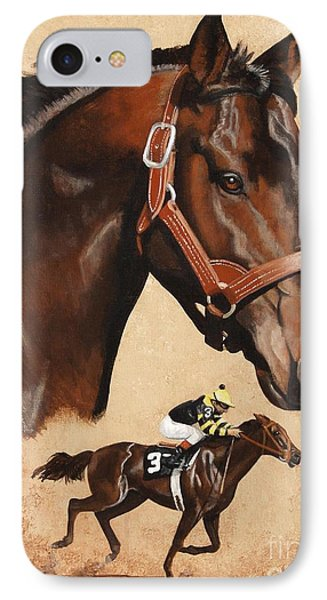 Seattle Slew IPhone Case by Pat DeLong