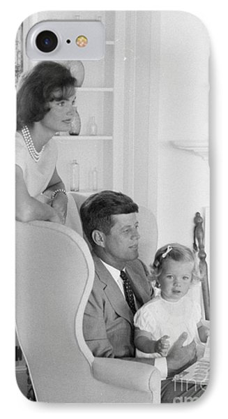Senator John F. Kennedy With Jacqueline And Caroline IPhone Case by The Harrington Collection