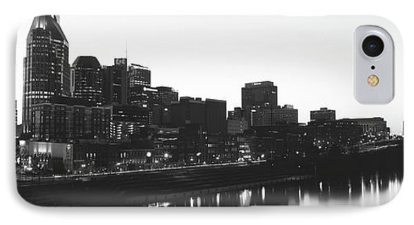 Skylines At Dusk, Nashville, Tennessee IPhone Case by Panoramic Images