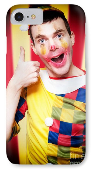 Smiling Circus Clown Standing Inside Bigtop Tent IPhone Case by Jorgo Photography - Wall Art Gallery