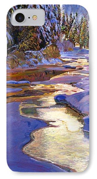 Snowy Creek IPhone Case by David Lloyd Glover