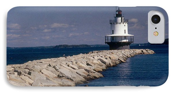 Spring Point Ledge Lighthouse Phone Case by Bruce Roberts
