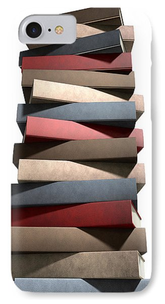 Stack Of Generic Leather Books IPhone Case by Allan Swart
