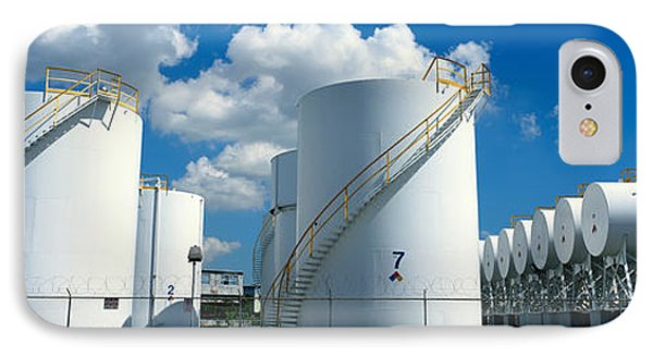 Storage Tanks In A Factory, Miami IPhone Case by Panoramic Images