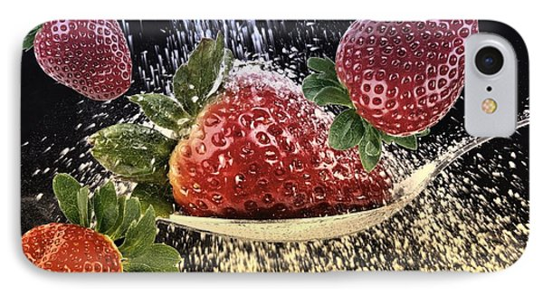 Strawberries IPhone Case by Manfred Lutzius
