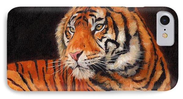 Sumatran Tiger IPhone Case by David Stribbling