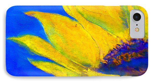 Sunflower In Blue IPhone Case by Sue Jacobi