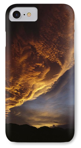 Sunset On Storm Clouds Near Mt Cook IPhone 7 Case by Ian Whitehouse