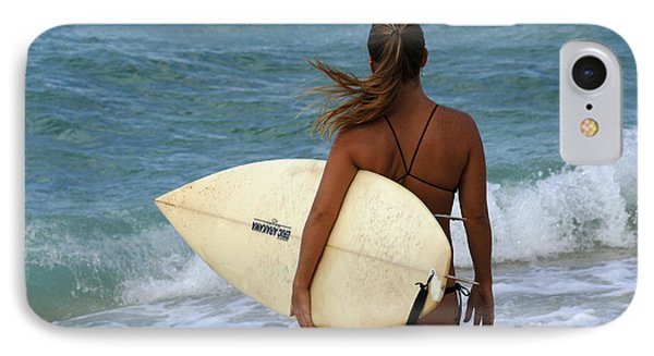 Surfer Girl Phone Case by Bob Christopher