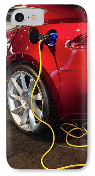 Tesla Model S Electric Sports Car IPhone Case by Jim West