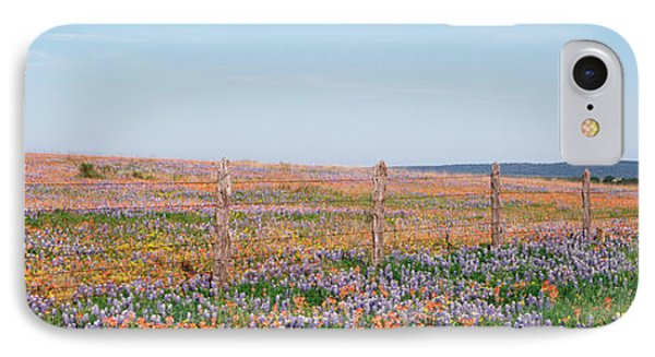 Texas Bluebonnets And Indian IPhone Case by Panoramic Images