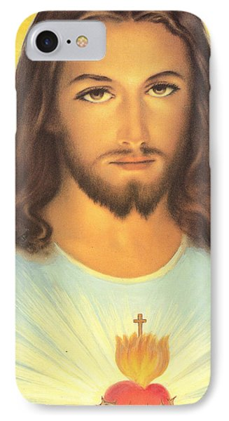 The Sacred Heart Of Jesus IPhone Case by French School