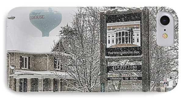 The Whitehouse Inn Sign 7034 IPhone 7 Case by Jack Schultz