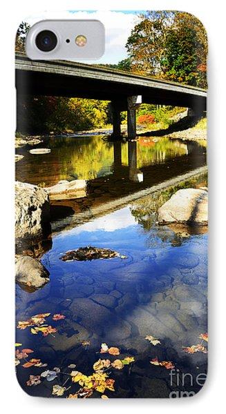 Three Forks Bridge Williams River IPhone Case by Thomas R Fletcher