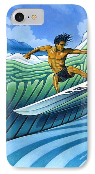 Tico Surfer IPhone Case by Nathan Miller