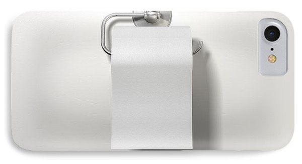 Toilet Roll On Chrome Hanger IPhone Case by Allan Swart