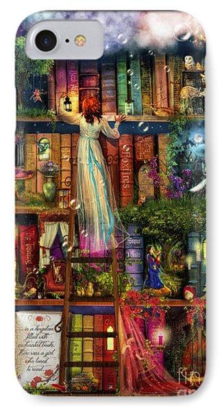Treasure Hunt Book Shelf IPhone Case by Aimee Stewart