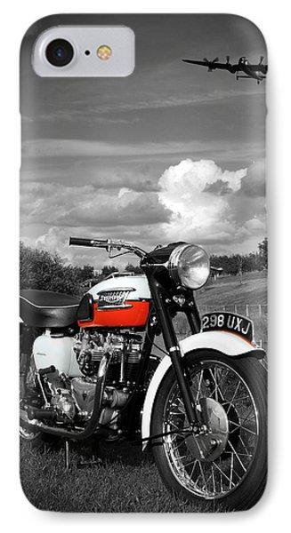 Triumph Bonneville T120 IPhone Case by Mark Rogan