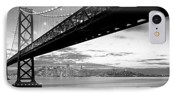 Twilight, Bay Bridge, San Francisco IPhone Case by Panoramic Images