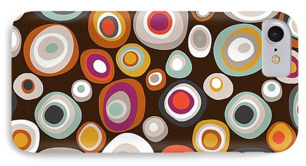 Veneto Boho Spot Chocolate IPhone 7 Case by Sharon Turner