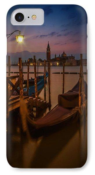 Venice Gondolas During Blue Hour IPhone Case by Melanie Viola