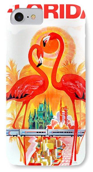 Vintage Florida Travel Poster IPhone Case by Jon Neidert